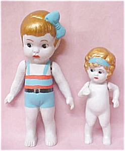Bisque Dolls 1940's Flapper & Bathing Suit 2 (Image1)