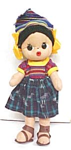 Cloth Folk Art Doll Colorful Ethnic (Image1)