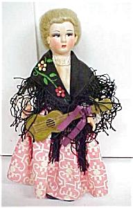 Lenci Style Doll Italy Felt Face Ethnic (Image1)