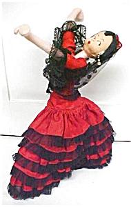 Klumpe Roldan Doll Spanish Dancer Lady in Red (Image1)