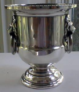 Urn Toothpick Holder Sheffield Silverplate Lions (Image1)
