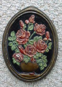 Roses Chalkware Plaque Cottage Chic (Image1)