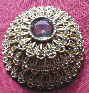 Unique Rhinestone Raised Dome Brooch (Image1)