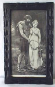 Engraving of Parthenia & Ingomar 1892 Ornate Frame (Image1)