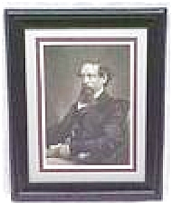 Charles Dickens Engraving 1860 Framed (Image1)
