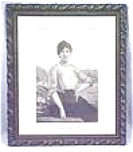 Wild Rose Lady Ornate Frame Engraving 1880's (Image1)