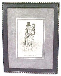 Dickens Tiny Tim & Bob Cratchit 1911 Framed (Image1)