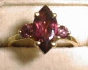 Garnet Ring Marquis Raspberry