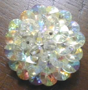 Sparkling Crystal Brooch Pin Rainbow Colors (Image1)