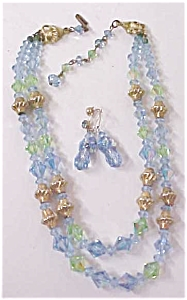 Austrian Crystal Choker Necklace & Earrings (Image1)