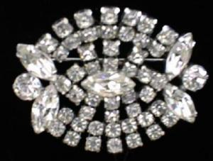 Lovely Art Deco Rhinestone Brooch Pin