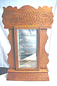 Oak Show Case Shelf Clock Case Lighted Antique (Image1)