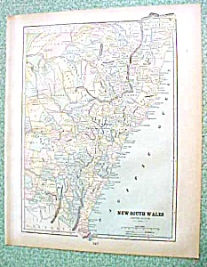 Antique Map New South Wales Australia 1894 (Image1)