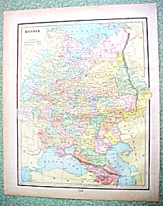 Antique Map Russia Austria 1894 (Image1)