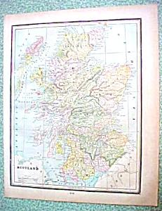 Antique Map Scotland Ireland 1894 (Image1)