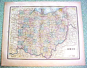 Antique Map Ohio & City of Cincinnati 1894 (Image1)