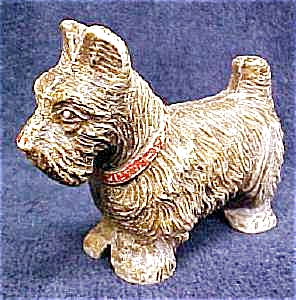 Scotty Dog Figurine Syroco Wood Vintage (Image1)