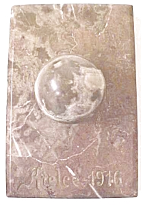 Marble Paperweight Kielce Poland 1916