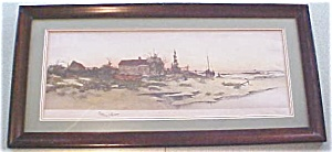 Oystermans Home Color Print Dtd 1891 Antique Frame (Image1)