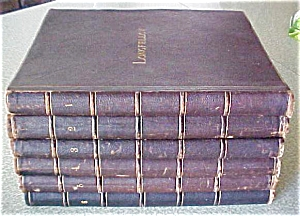 Longfellow Poetical Works 6 Vols 1881 Leather (Image1)