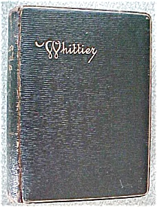 John Greenleaf Whittier Poetical Works Leather 1800