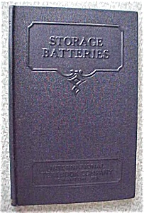 Storage Batteries 1937 International Textbook