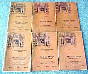 Machine Design 6 Vol International Correspondence 1933 (Image1)