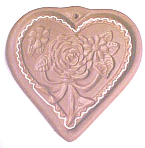 Hartstone Cookie Mold Folk Art Heart Roses (Image1)