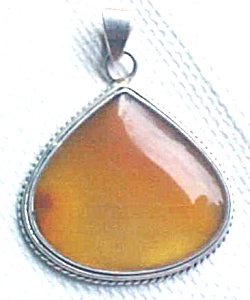 Australian Carnelian Sterling Silver Pendant (Image1)