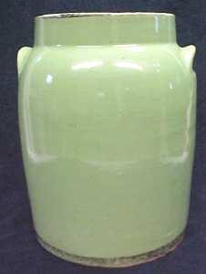Green Crock Preserving Jar Great Color (Image1)