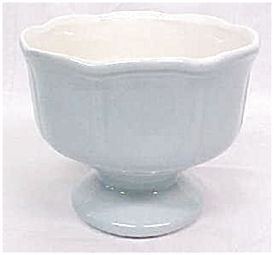 Blue Pedastal Planter Bowl Nice Color (Image1)