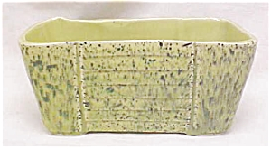 Pottery Planter Bowl Retro Lime Green Speckle (Image1)