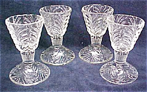 Ornate Pressed Glass Fruit Cups Elegant 4 Pc