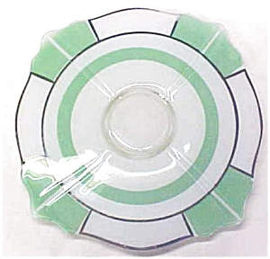 Indiana Glass Green & White Platter 1920-30's (Image1)