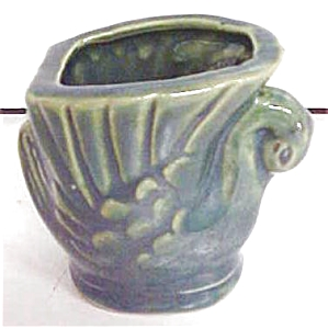Swan Toothpick Holder Green Pottery (Image1)