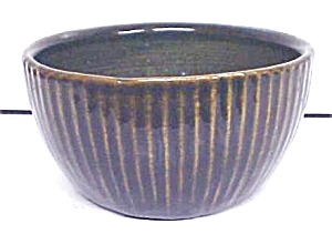 Pottery Bowl Arts & Crafts Style Cobalt ZSC (Image1)