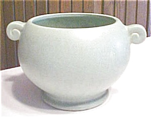 Mccoy Pottery Bowl Matte Green Floraline