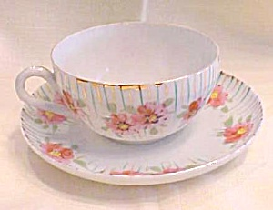 Teacup & Saucer Hand Painted Bone China (Image1)
