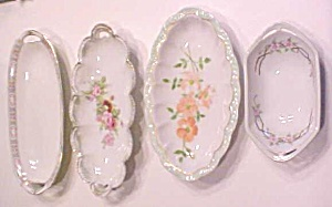 Celery Dishes Germany France 1900's 4 Pc Haviland MZ (Image1)