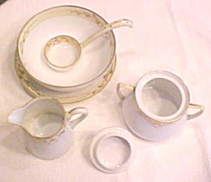 Nippon Hand Painted Creamer Sugar + More (Image1)
