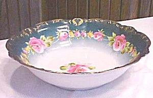 Franconia Porcelain Bowl Roses Hand Painted 10 inch (Image1)