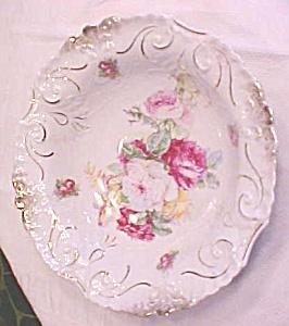 TL Barvarian Porcelain Bowl Roses 10 inch (Image1)