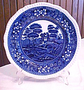 "Copeland Flow Blue Spode's Tower 9.5"" Plate (Image1)"