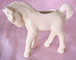 Pottery Pony Planter Horse Yellow (Image1)