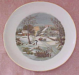 Crookville Homestead in Winter Plate Iva-Lure 8 inch (Image1)