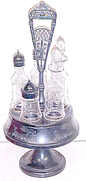 Aurora Cruet Canister Set Ornate 1800s Quadruple (Image1)