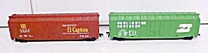Train Cars HO Scale El Capitan Burlington (2) Box Cars (Image1)