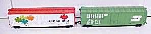 Train Cars HO Scale Canadiana Burlington (2) Box Cars (Image1)