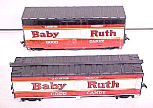 Train Cars Ho Scale Baby Ruth (2) Sizes Track Cleaner