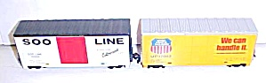 Train Cars HO Scale SOO LINE & UNION PACIFIC Box Cars (Image1)